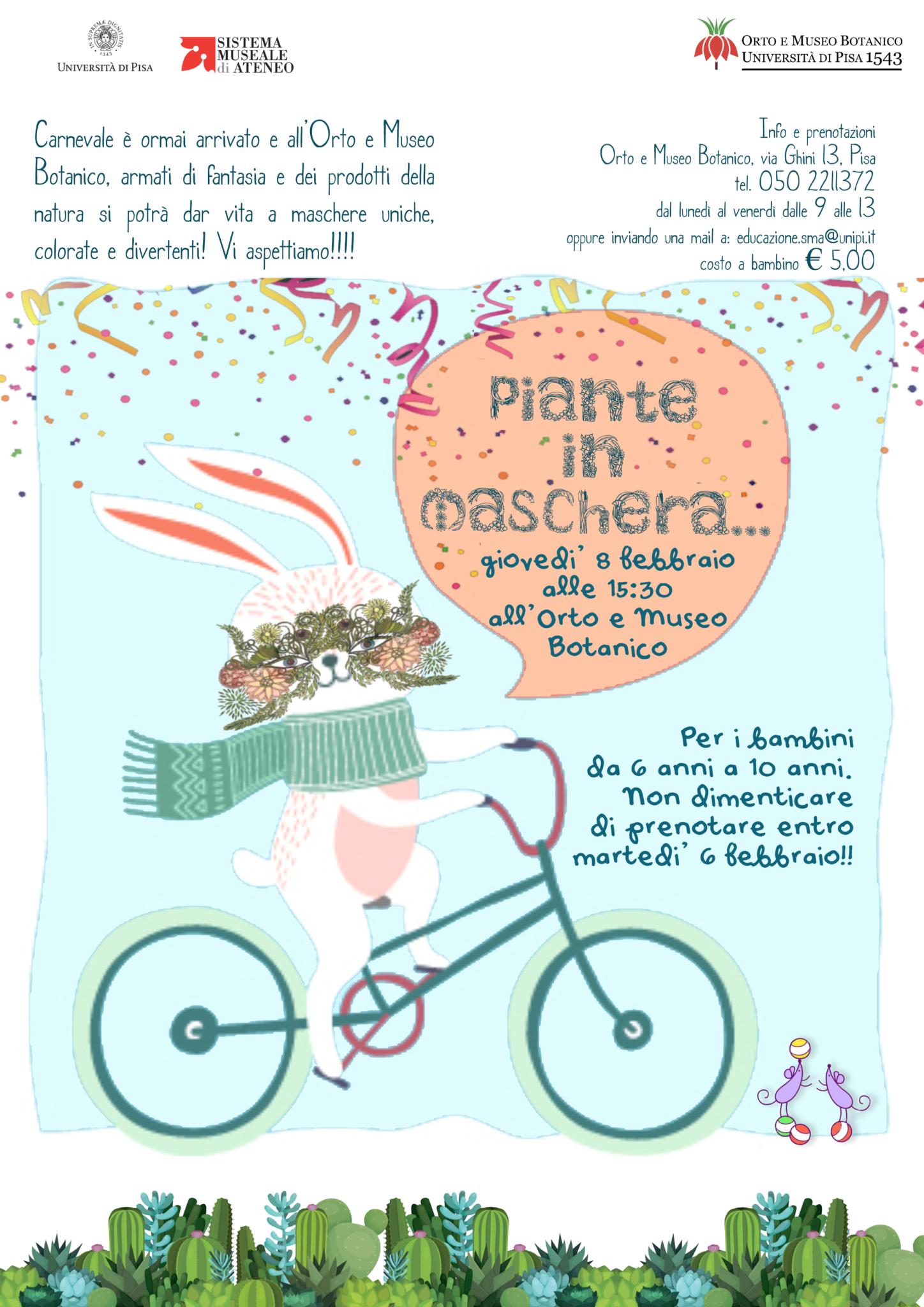 Calendario Piante Orto.Orto E Museo Botanico Piante In Maschera Giovedi 8